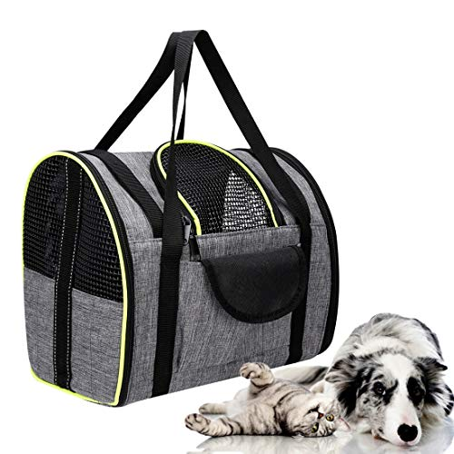 SILIVN Soft-Sided Pets Carrier, Small Puppy&Cat Travel Bag with Double Shoulder Straps | Perfact for Under 11 Pounds