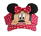 Disney Minnie Mouse Polka Dot Visor W/ears