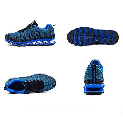 CHT Otoño Del Resorte De Los Hombres Al Aire Libre De Ocio De Los Zapatos Deportivos Estudiantes Marea Funcionamiento De Naranja Verde Hoja Multi-azul Tamaño Opcionales Blue