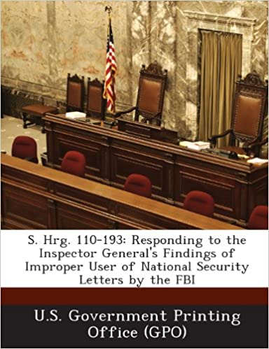 Buy S  Hrg  110-193: Responding to the Inspector General's