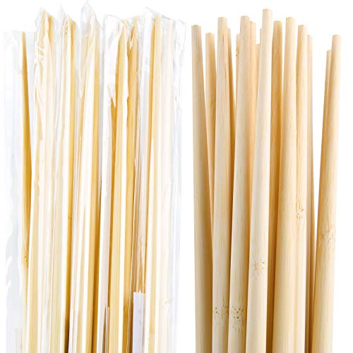 (Individually wrapped 10 Pairs 18 Inches Long Natural Eco Friendly Bamboo Chopsticks Long cooking Bamboo Sticks and Chopsticks for Cooking)
