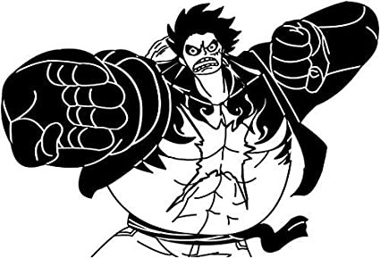 6b72c9460ea Image Unavailable. Image not available for. Color: KyokoVinyl One Piece -  Luffy Fourth Gear Anime Decal Sticker ...