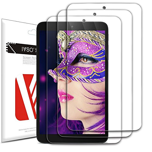 Luibor Alcatel 3T 8.0 Screen Protector High Definition Crystal Clear Shield Alcatel 3T 8.0 Tablet (3 Pack)