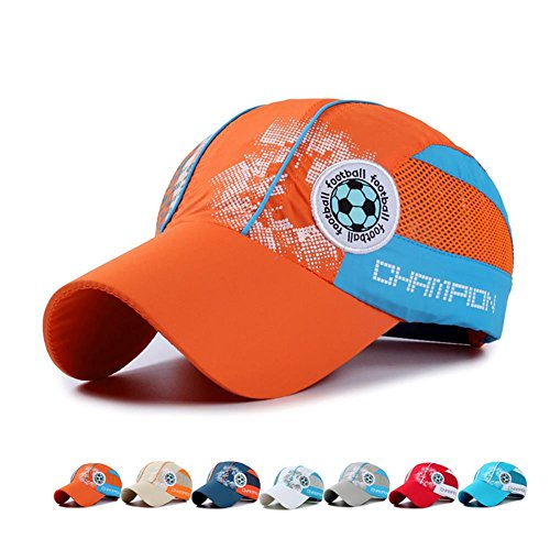 Toddlers Adjustable Quick Dry Sun Hat Mesh UV Protection Caps Football SkyBlue by Tinyfam (Image #2)