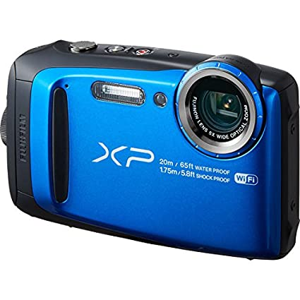 Fujifilm FinePix XP120 Waterproof Digital Camera International Model (Blue) Point & Shoot Digital Cameras at amazon