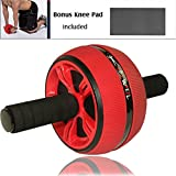 Cheap Ab Wheel Carver Pro Roller for Core Workouts, Abdominal Roller Wheel with Knee Pad, Home Gym Toning and Core Tightening, Fitness Abdominal Exercise Equipment