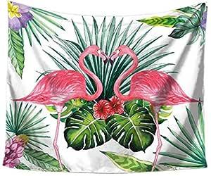 Flamingo Printed Tapestry Bohemia Wall Hanging Carpet Beach Towel Throw Outdoor Picnic Blanket Table Cloth