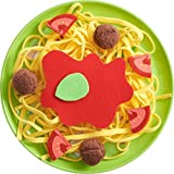 haba meat - HABA Biofino Spaghetti Bolognese - Polyester Pasta with Meatballs, Tomatoes & Sauce on a Melamine Plate - Perfect for Pretend Role Play Dinner Fun!