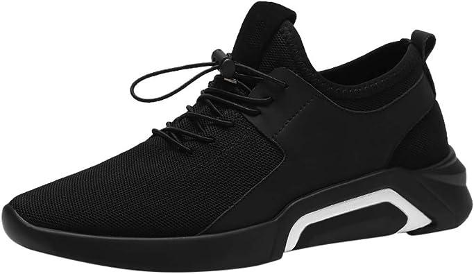JiaMeng Zapatos para Correr En Montaña Asfalto Deportes Zapatillas Zapatos de Malla al Aire Libre de Encaje Informal hasta Soles cómodos Zapatillas Deportivas Hombre: Amazon.es: Zapatos y complementos