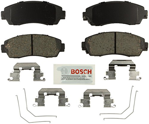 Bosch BE1521H Blue Disc Brake Pad Set with Hardware for Select Honda Crosstour, CR-V, and Odyssey Vehicles - FRONT