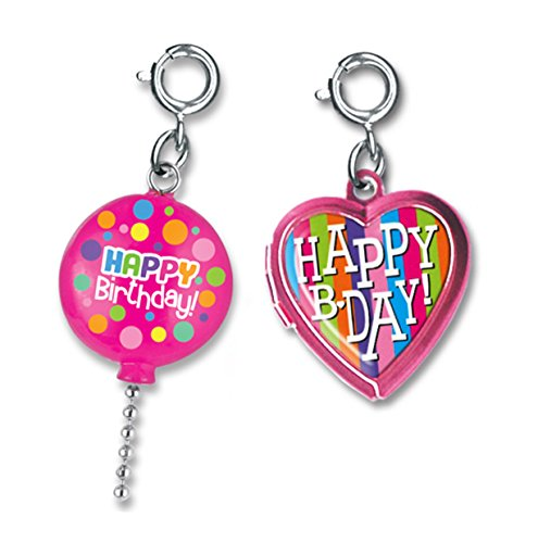 Price comparison product image CHARM IT! Happy Birthday Heart Locket and 3-D Pink Balloon 2 Charm Add On Set