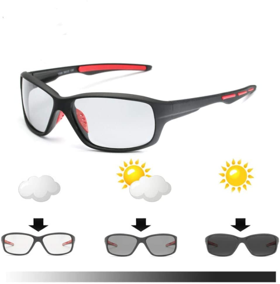 FRGTHYJ Sport Lentes Que cambian de Color Gafas fotocromáticas polarizadas Bicicleta MTB Montar Pesca Ciclismo Gafas de Sol Equipo al Aire Libre: Amazon.es: Hogar