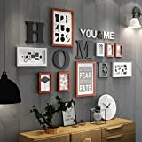 Home@Wall photo frame Wood Photo Frame Set - 9 Frames - Glass Front- With Picture Mounts Multi Picture Photo Frame Frames Wall For Home Accessories ( Color : B )