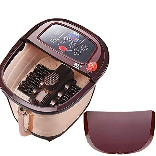 WJSWJ Foot Spa Massager, Heated Rolling Massage Adjustable Time & Temperature Multifunction Heat Infrared Killing Germs Fully Automatic Suitable for Home (Size : 460 385 350mm)