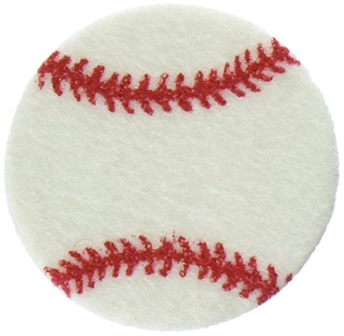 The New Image Group Stick It Felt Shapes, Baseballs 24/Pkg ()