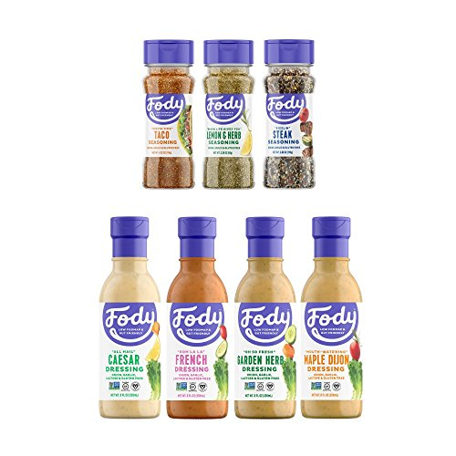Fody Food Co, Flavor Pack, Dressings and Seasonings, Low FODMAP and Gut Friendly, Gluten and Lactose Free, Garlic and Onion Free, 7 Count ()