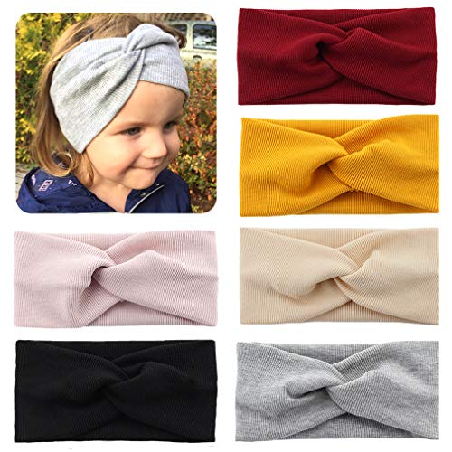 (Baby Girls Headband Twisted Hair Band Knotted Elastic Soft Floral Headwraps Turban Accessories for Newborn Infant Toddler)