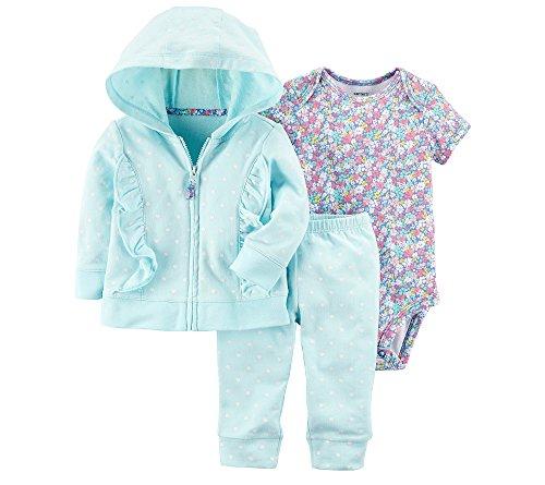 Carter's Baby Girls' 3-Piece Little Jacket Set 9 (Ruffle Jacket Set)