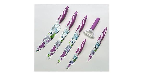 Compra SwissLine Juego de 5 cuchillos Suizos de acero ...
