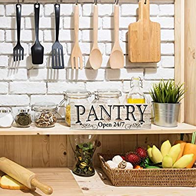 MyVintageFinds Pantry Sign Kitchen Decor, Rustic Kitchen Sign, Made in America, Farmhouse Wall Decor Sign