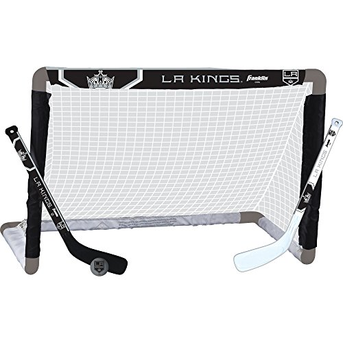 Los Angeles Kings Team Mini Hockey Set, Junior, Black (Franklin Hockey Equipment)