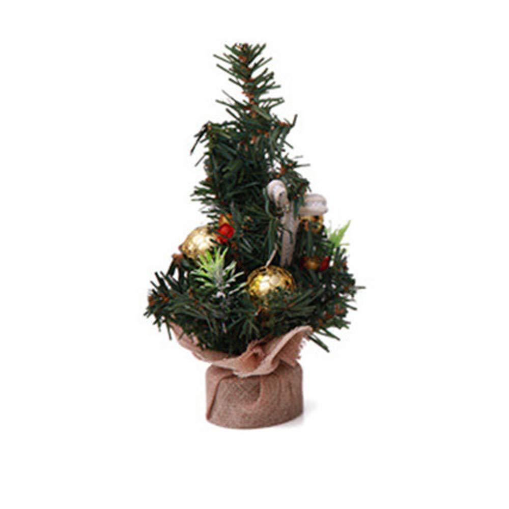Mini arbre de Noë l, Dinglong DIY Dé corations Artificielle table mini arbre de Noë l dé corations Festival arbre miniature 20cm (H)