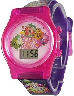 Shopkins Little Girls Purple Digital Watch with Light Up Feature KIN4059