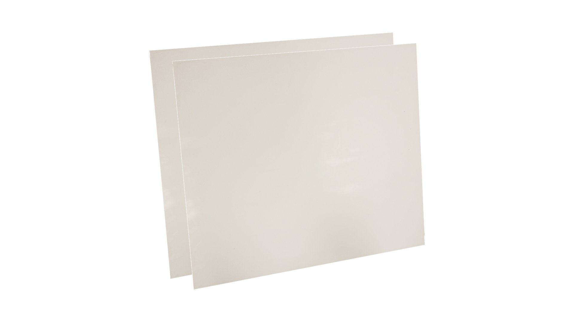Sterling Seal 7530.5012x12x2 7530 Virgin Teflon Sheet, 1/2'' Thick, 12'' x 12'' (Pack of 2)