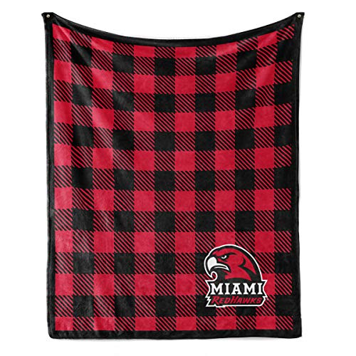 Venley NCAA Miami University Redhawks Fleece Blanket, 30