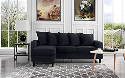 Modern Linen Fabric Sectional Sofa - Small Space Configurable Couch