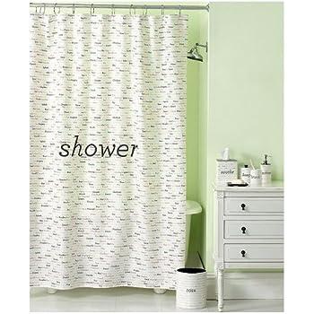 Amazon.com: Martha Stewart Shower Curtain- Wordplay: Home & Kitchen