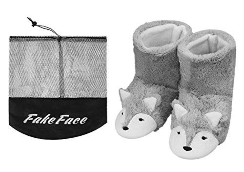 Chaussures Polaire JIAHFR en Bottes Renard Maison Bottes Pantoufles Mignon Chaussons d'hiver Chaud Peluche Femme Femmes 4qZB6