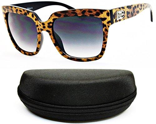 D5010-cc Designer Eyewear Rectangular Sunglasses (O1901B - Print Zoo Sunglasses Animal