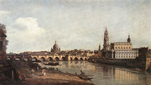 - View of Dresden from the Right Bank of the Elbe with the Augustus Bridge by Bernardo Bellotto - 16