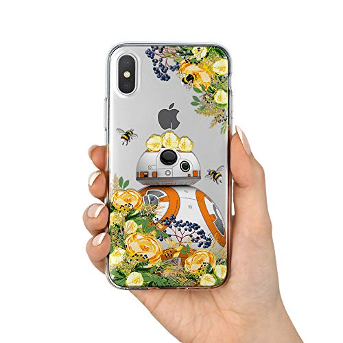 e381929b87258 Floral BB8 iPhone 5 6 6s 7 8 Plus 10 X XS Max XR Star Wars Samsung Galaxy  S8 S9 Plus Note 8 Note 9 Google Pixel 2 3 XL Case Cover Silicone protective  ...