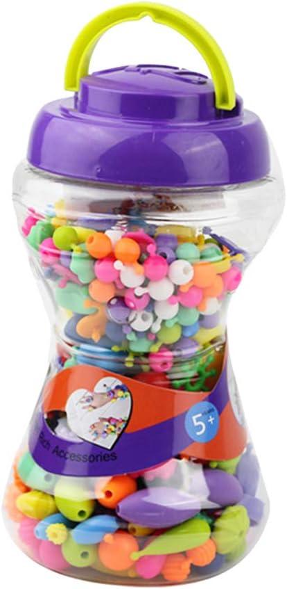 Toyvian 300pcs Pop Snap Beads Set Pop Beads Toy con Caja de Almacenamiento para niños joyería de los niños Pulsera DIY Craft: Amazon.es: Juguetes y juegos