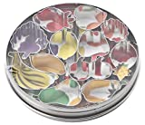 Italo Ottinetti Set 12 Fruit Shaped Cookie Cutters, Tin, Metallic, One Size