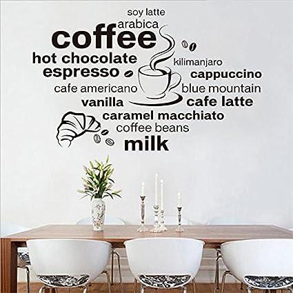 Weaeo Cucina Caffè Wall Stickers Murax Vinile Adesivo Parete Cucina ...