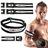Blood Flow Restriction Bands | 4 Pack Occlusion Training Bands, 2 Inches Width for Arms and Legs | Gain Fast Muscle Growth Without Lifting Heavy Weights | Strong Elastic Biceps Straps, Quick Release