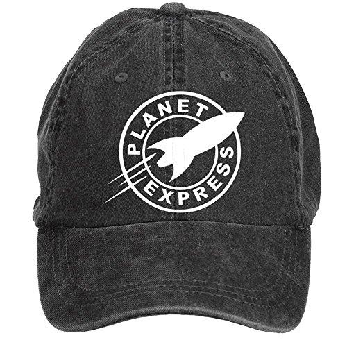 Jidlg-Unisex-Cotton-Planet-Express-Futura-Symbol-Adjustable-Sun-Hat-Baseball-Cap
