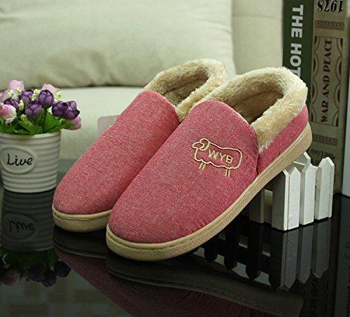 35 rouge moelleux avec chaussons hiver mouton chaussons et Forfait coton et côte Ambiance en et chaussures 250 36 de chaussures boeuf coton épais élégante des WRgqcp