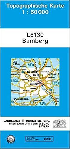 Karte Bamberg.Tk50 L6130 Bamberg Topographische Karte 1 50000 Tk50