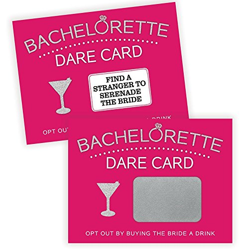 Bachelorette Dare Card Party Game | 20 Scratch Off Cards | Bachelorette Party Ideas, Girls Night Out Activity, Bridal Party -