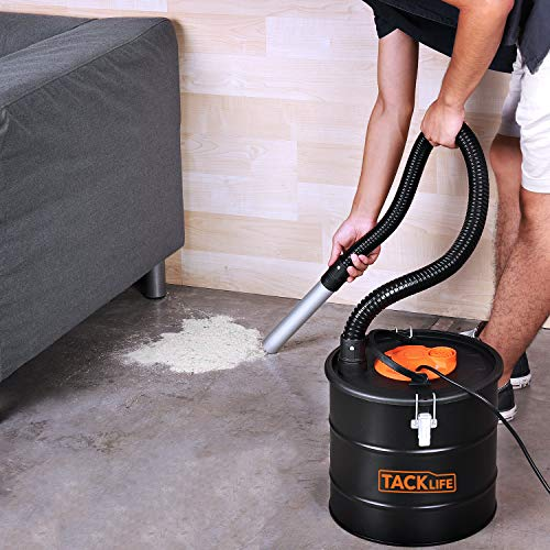 Ash Vacuum, TACKLIFE 800W Ash Vacuum Cleaner Ash VAC Canister 5 Gallon Capacity Bagless Debris/Dust/Ash Collector, Suitable for Fire, Log Burners, Stoves-PVC03A by TACKLIFE (Image #5)