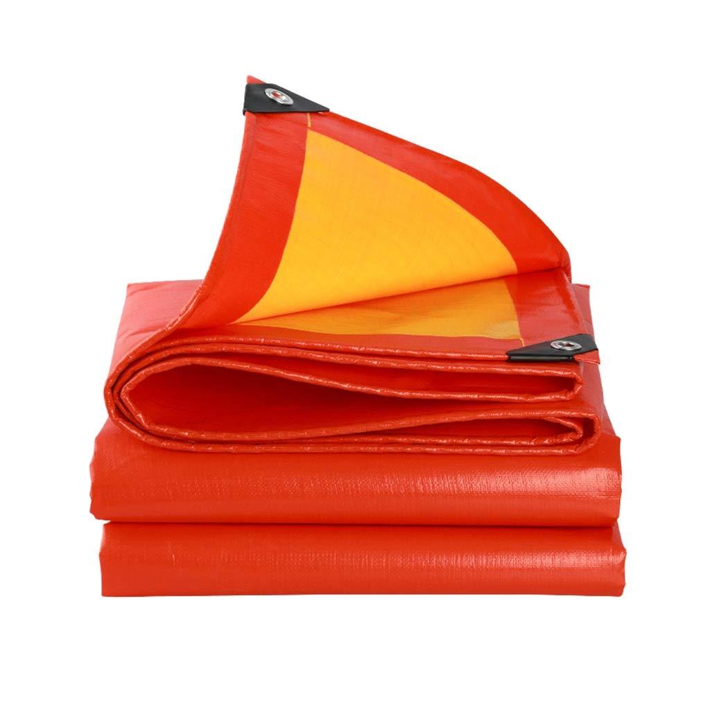 rouge 44m BÂche épaisse prougeection solaire bÂche tissu imperméable à l'eau de pluie camion imperméable à l'eau ultra léger bÂche tissu couverture canopy bÂche tissu d'ombre ( Couleur   rouge , S
