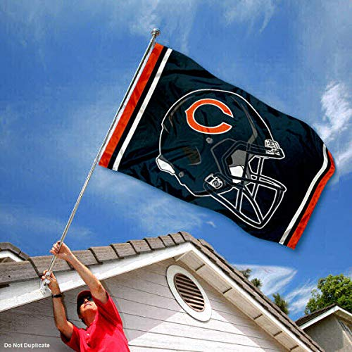 WinCraft Chicago Bears New Helmet Grommet Pole Flag