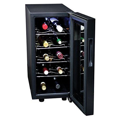 - Koolatron KWT10B 10-Bottle Digital Temperature Control Wine Cellar, Black