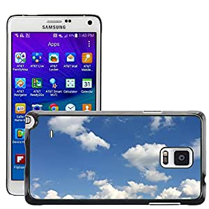 Hot Style Cell Phone PC Hard Case Cover // M00153270 Sky Heaven Clouds Background // Samsung Galaxy Note 4 IV