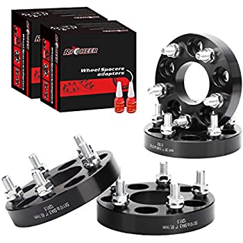 Flycle 4PCS Wheel Spacers Adapter 5x4.5 to 5x4.75 for Jeep,1 inch adapters 5X4.75 Wheels ON 5X4.5 CAR with 1//2x20 Studs for Ford Crown Victoria Explorer Mustang Ranger Jeep XJ ZJ KK KJ YJ TJ