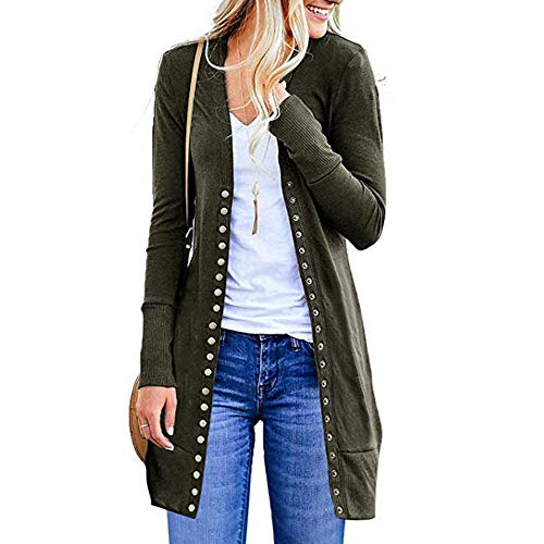 Clearance Sale! Wintialy Womens Open Front Button Down Cardigan Sweater Long Sleeve Plus Loose Drape